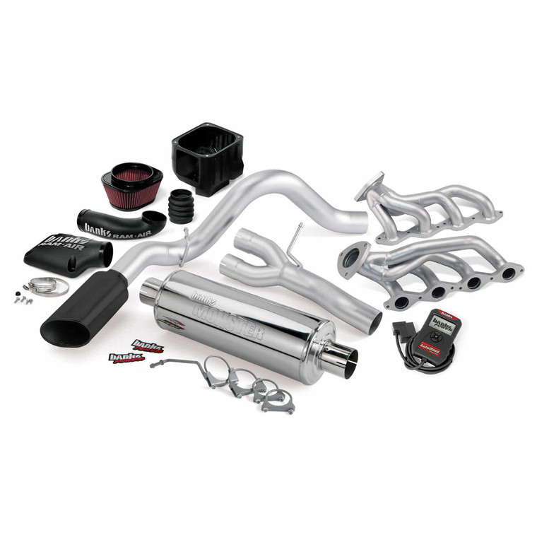 Banks PowerPack 2002-06 Chevy/GMC 1500 4.8L/5.3L w/AutoMind - Black Tip (SC/SB)