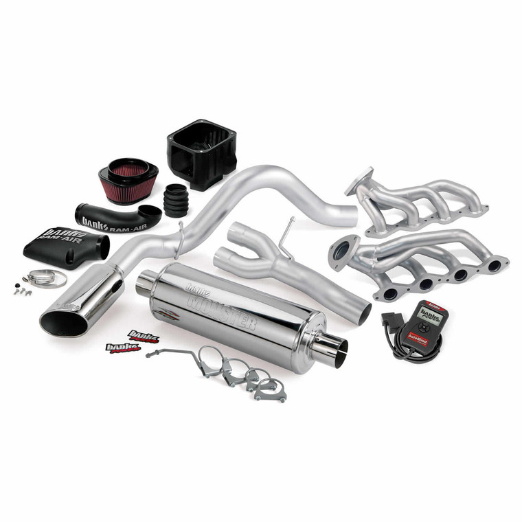 Banks PowerPack 2002 Chevy/GMC 1500 4.3L/5.3L w/ AutoMind - Chrome Tip (EC/SB)