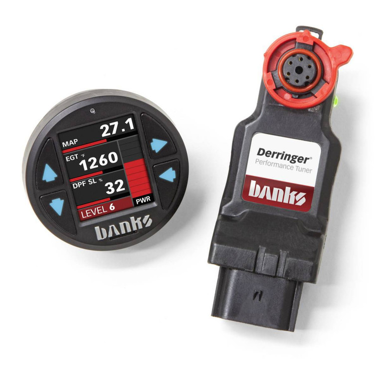 Banks Derringer 2011-19 Ford 6.7L Tuner w/ iDash 1.8 Super Gauge & ActiveSafety