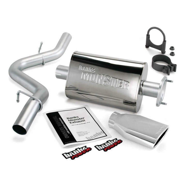 "Banks 2.5"" Monster Exhaust 2004-06 Jeep Wrangler 4.0L - Chrome Tip (Unlimited LJ)"