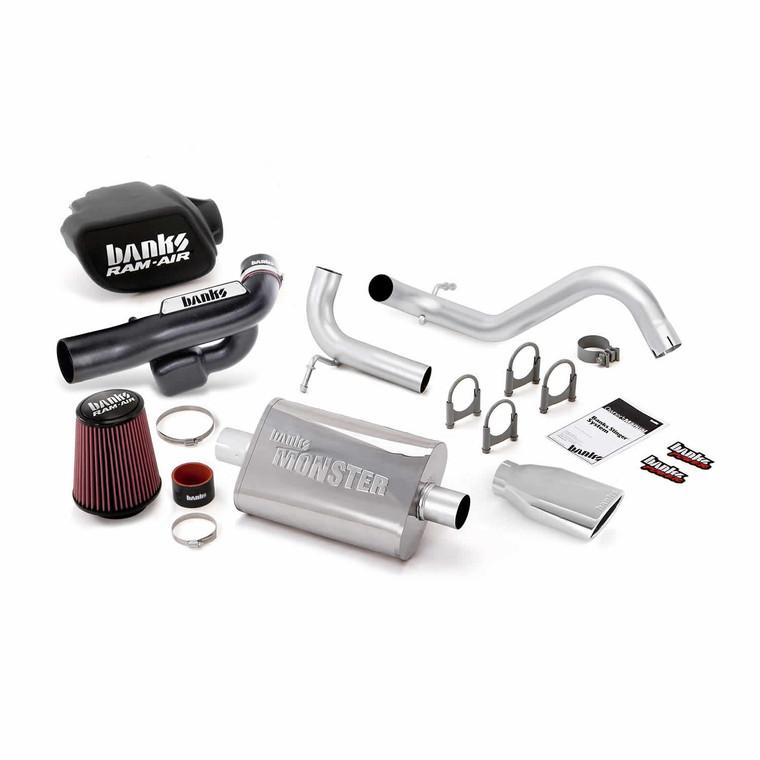 Banks Stinger Kit 2012-18 Jeep 3.6L Wrangler 2 Door - Chrome Tip