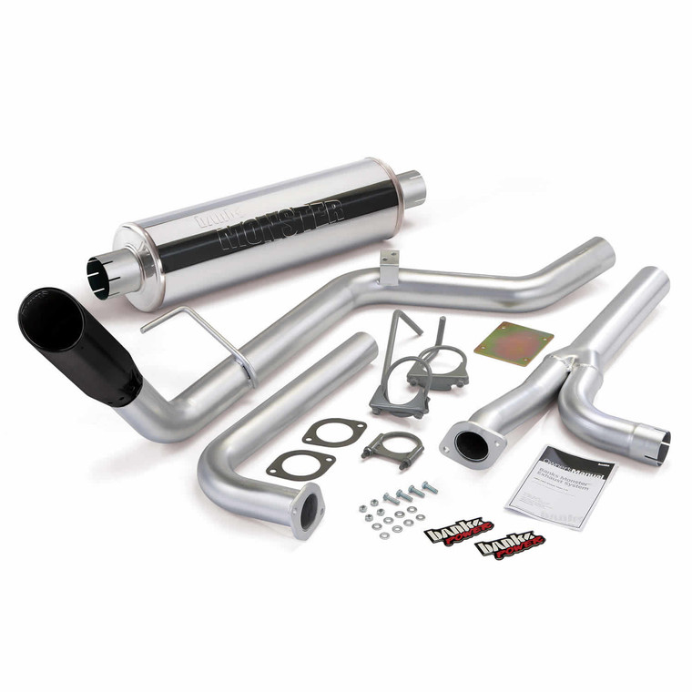 Banks Monster Exhaust System Single Exit Black Tip 04-15 Nissan 4.0L Frontier All Cab/Beds