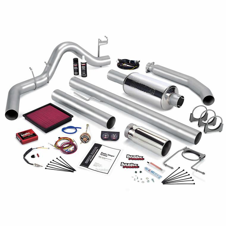 Banks Stinger Kit 2002 Dodge Cummins 5.9L 245hp - Chrome Tip (Std. Cab)