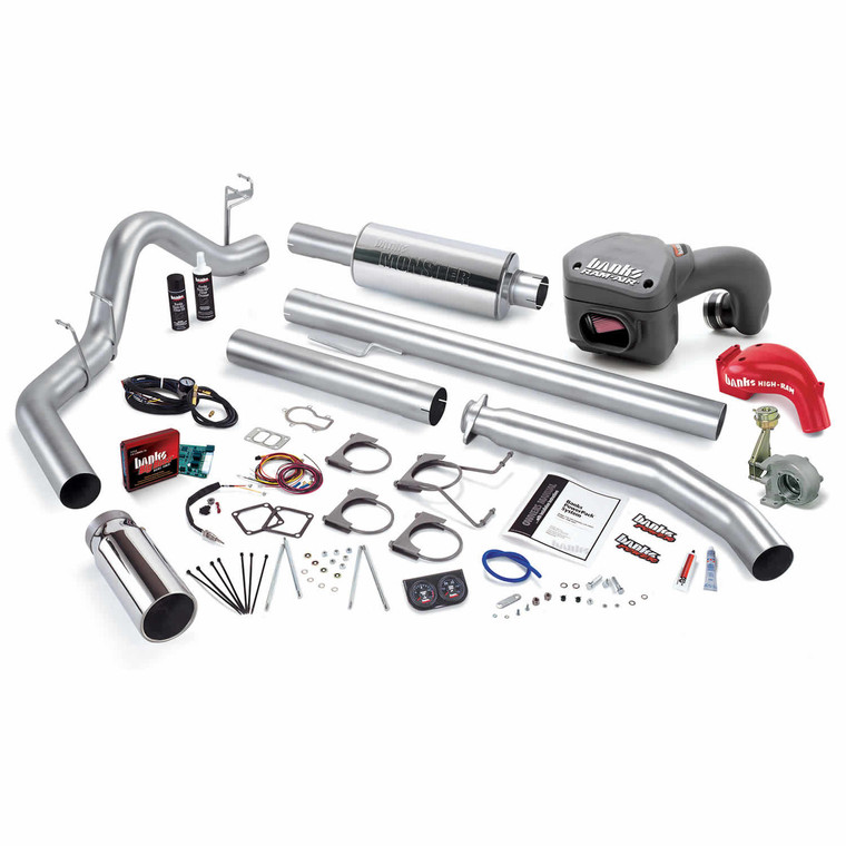 Banks PowerPack 98.5-00 Dodge Cummins 5.9L - Chrome Tip (Std. Cab)