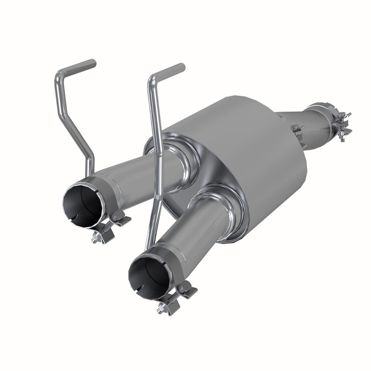 "MBRP 3"" Single in 2.25"" Dual Out Muffler Replacement, High Flow, T409, 2009-2019 RAM, 1500, 5.7L Hemi"