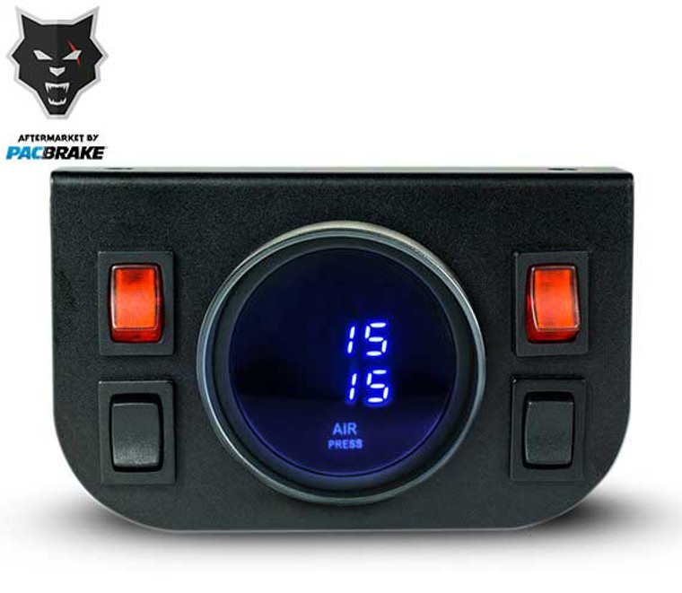 Pacbrake Premium In Cab Control Kit For Independent Electric Air Spring Activation With Digital Gauge Pacbrake