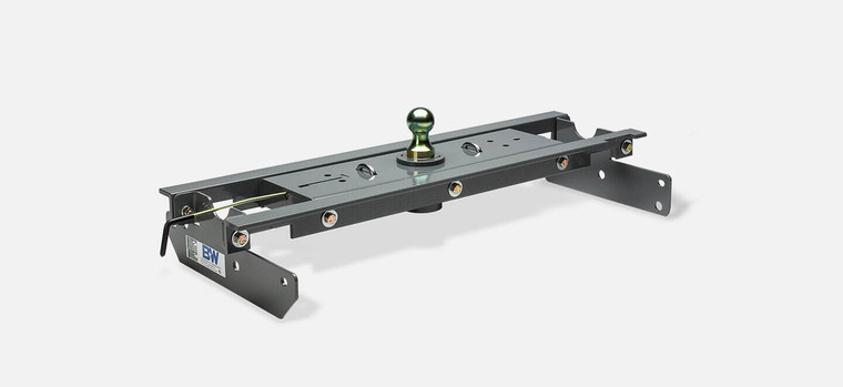 "B&W Turnoverball Gooseneck Hitch Flatbed Kit 6"" x 8"" - 1/2"" Plate - 1/8"" Socket Top Stick Out"