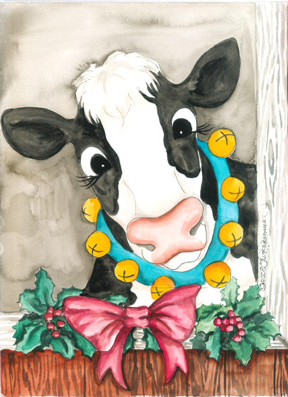 Christmas Cow.Cow Christmas Card Assortment