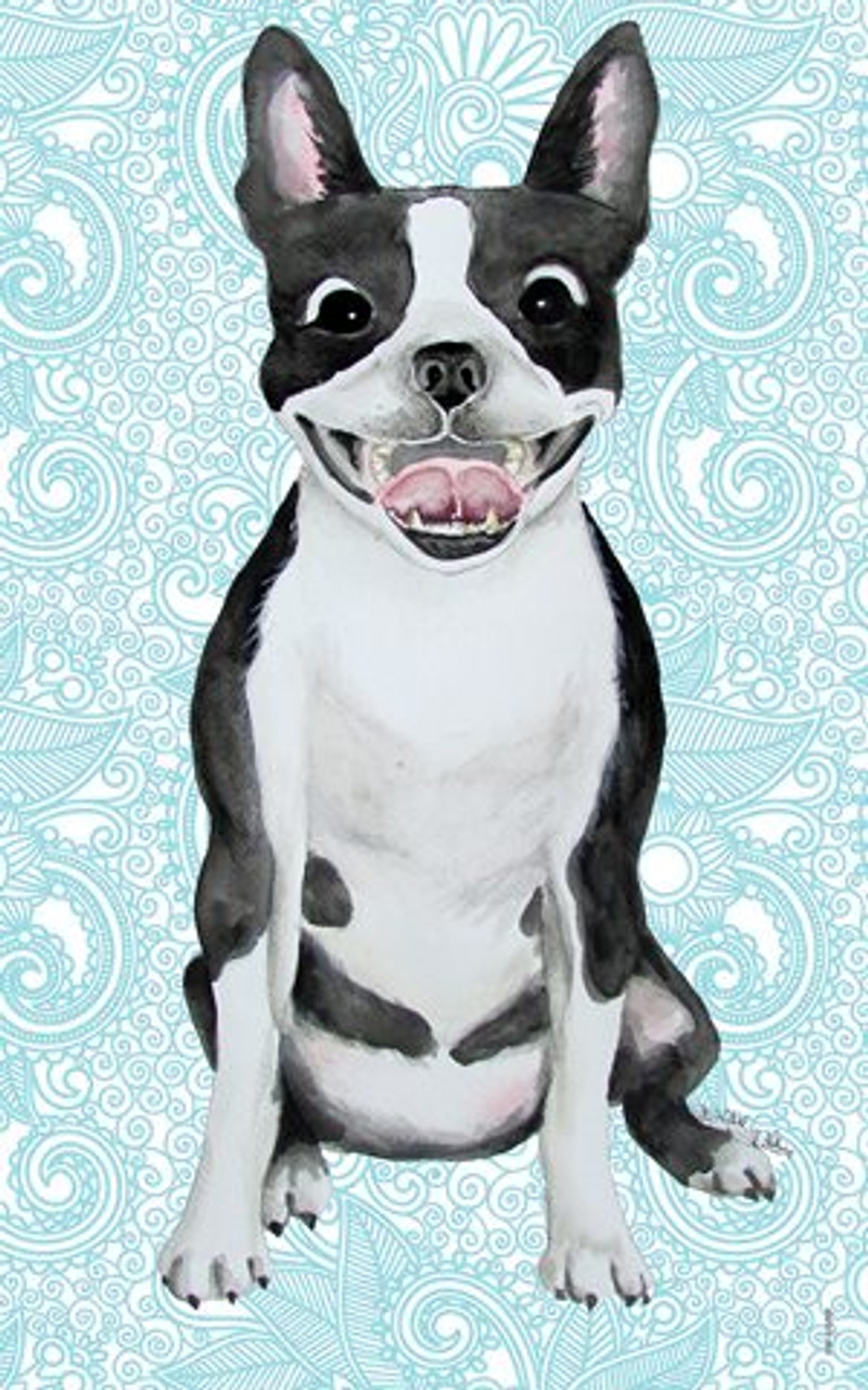 269-MSA Lisa Jane DOG PUPPY /'WHITE FRENCH BULLDOG/' Blank Greeting Note Card NEW