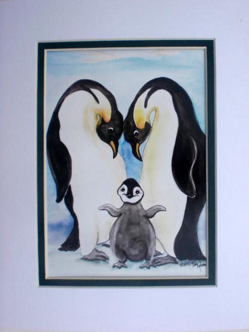 penguin love print