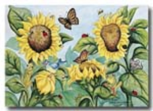 sunflowers and little critters   card