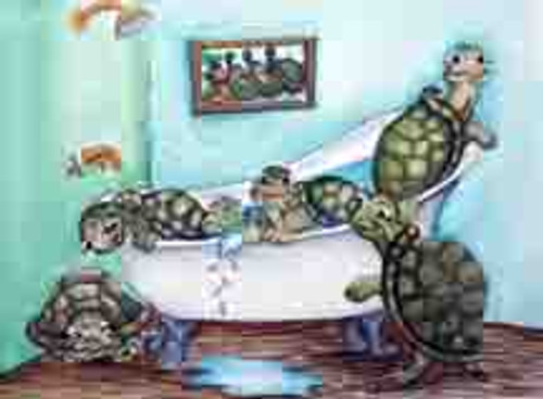 turtles in the tub