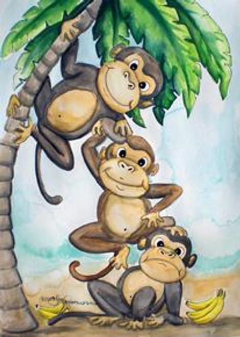 3 monkeys  card