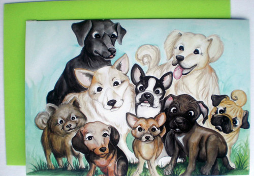 cute dog group card designs by Lisa Rasmussen