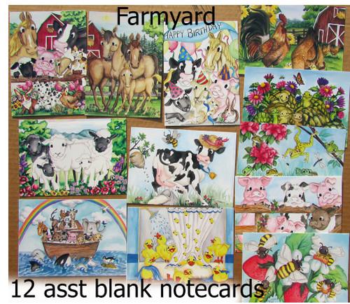farm animal card assortment