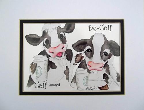 calf decalf matted