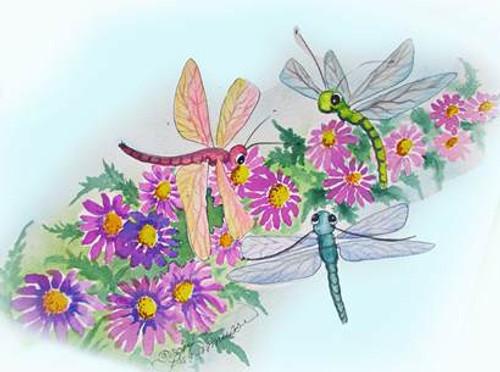 3 dragonflies