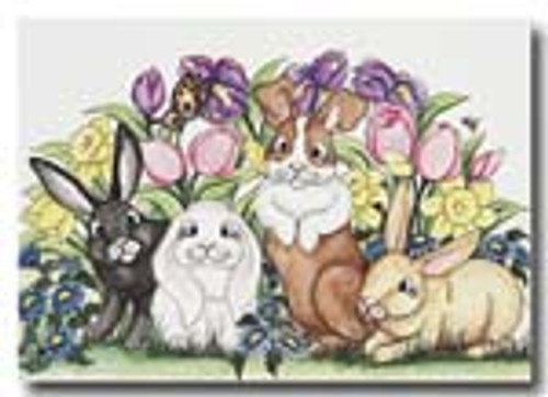 086   flowers bunnies (card also)