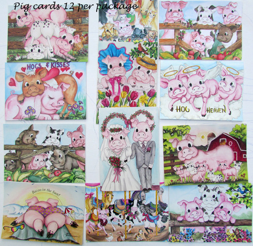 pig card assortment