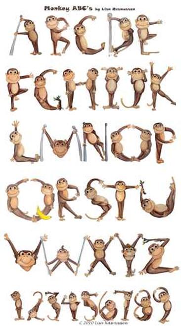Monkey ABC vinyl banner poster