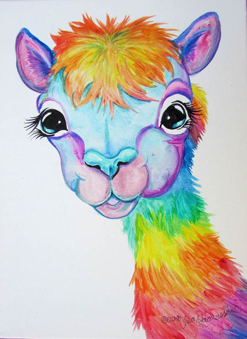 alpaca rainbow