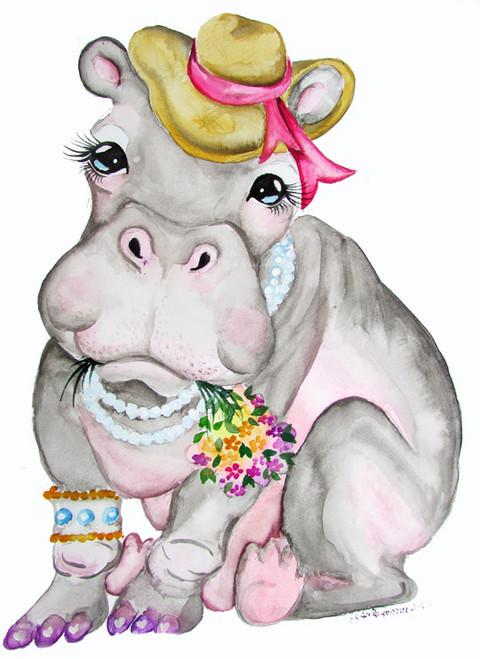 hippo dressed up
