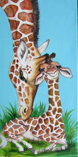 giraffe mom