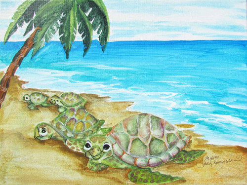 turtles coming on beach