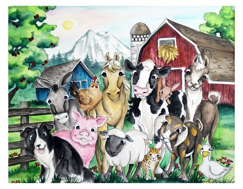 Barnyard note card