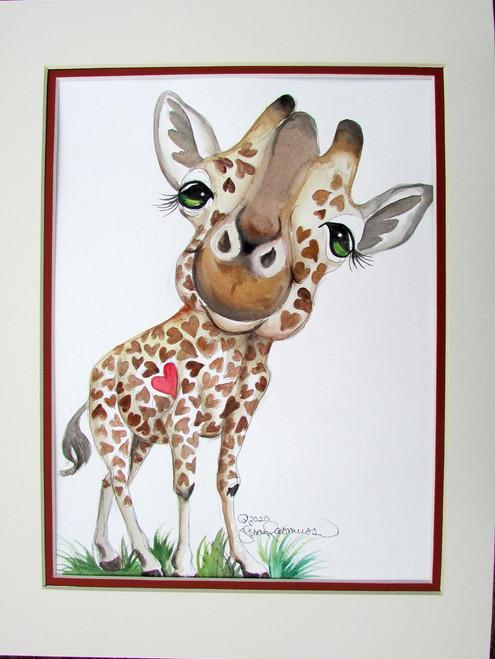 giraffe heart  12 x 16