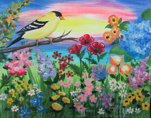 goldfinch 12x16