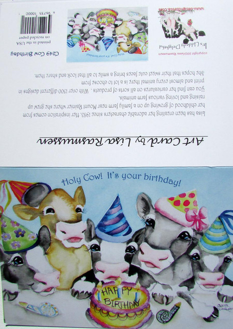 Holy cow it's your birthday card blank on inside with envelope