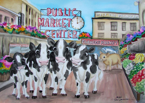 Cows at Pike Place Market