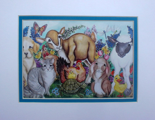critters of spring matted