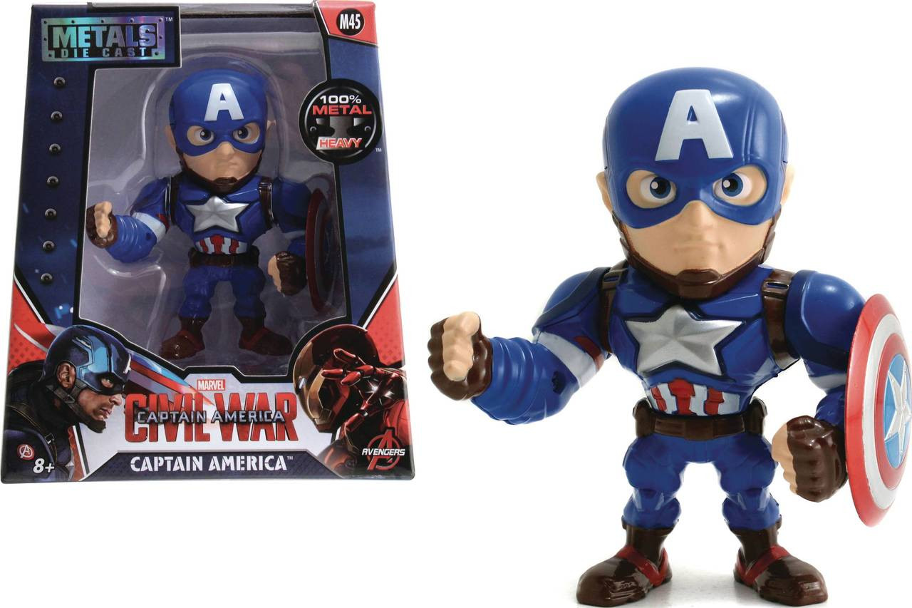 metals marvel civil war captain america 4in die-cast fig (ne