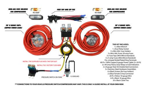 Dual Compressor Wiring Kit By Avs Free Shipping Avs