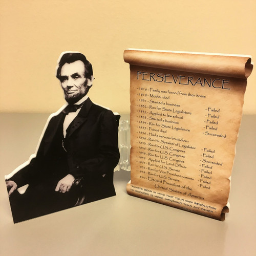 Abraham Lincoln - PERSEVERANCE - 5""