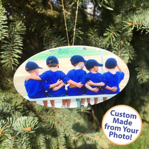 "PhotoOrnament Oval - 4"" - High Gloss"