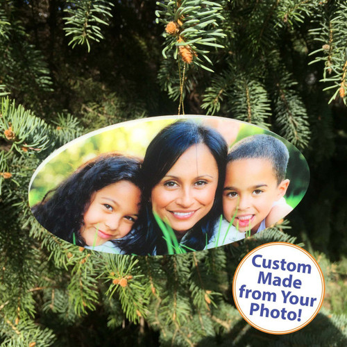 "PhotoOrnament Oval - 6"" - High Gloss"