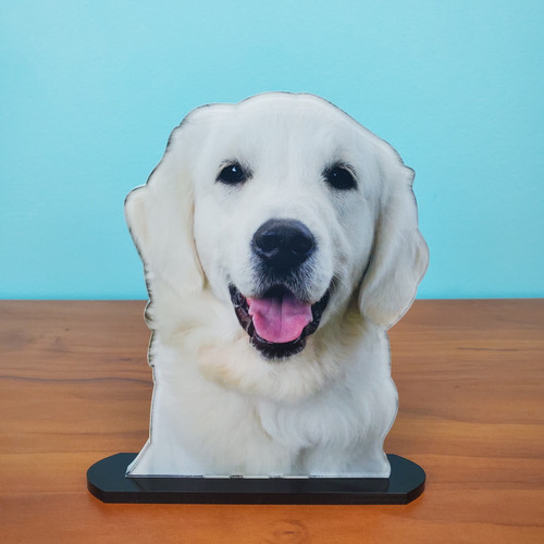 Therapy Dog PhotoStatuettes - 5x7 - High Gloss, Photo Cut Out, Photo Sculpture