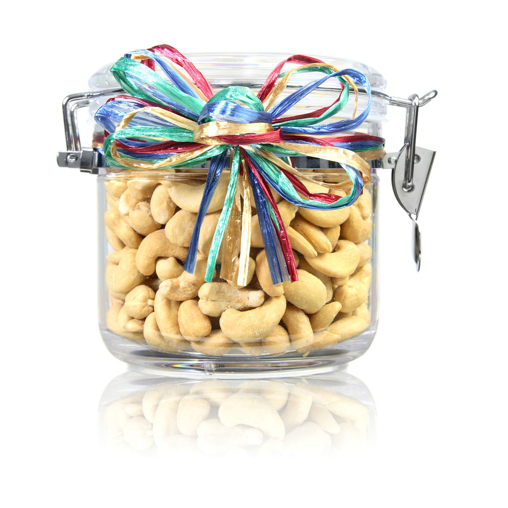austiNuts Small Acrylic Jar with Cashews is perfect gift for teachers, doctors, lawyers, any offices, you name it!!
