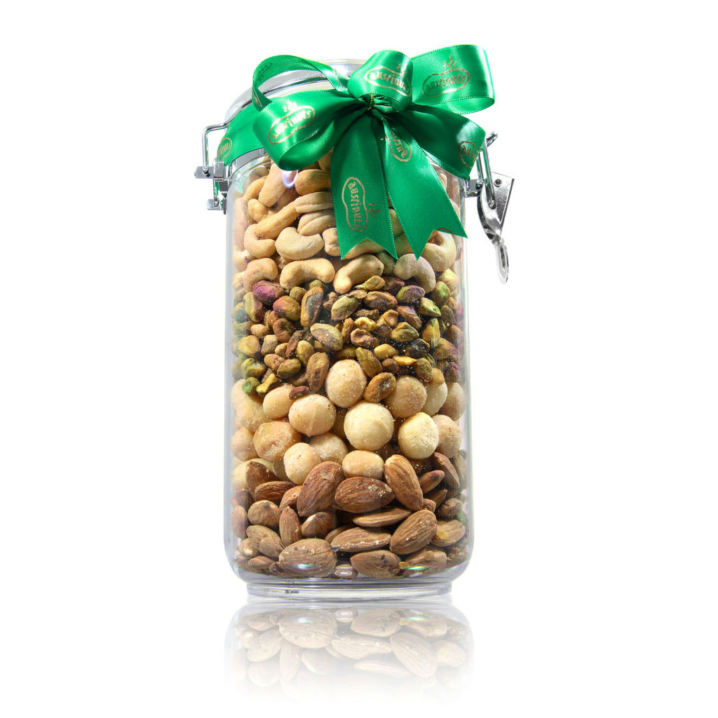 Acrylic Gift Jar with Nut Mix