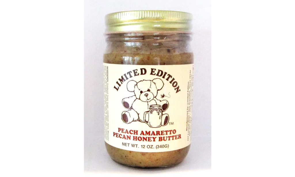 austiNuts carries Limited Edition® - Peach Amaretto Pecan Honey Butter to help you complete your perfect gift basket, care package, or if you are looking for a great quality Texas product.