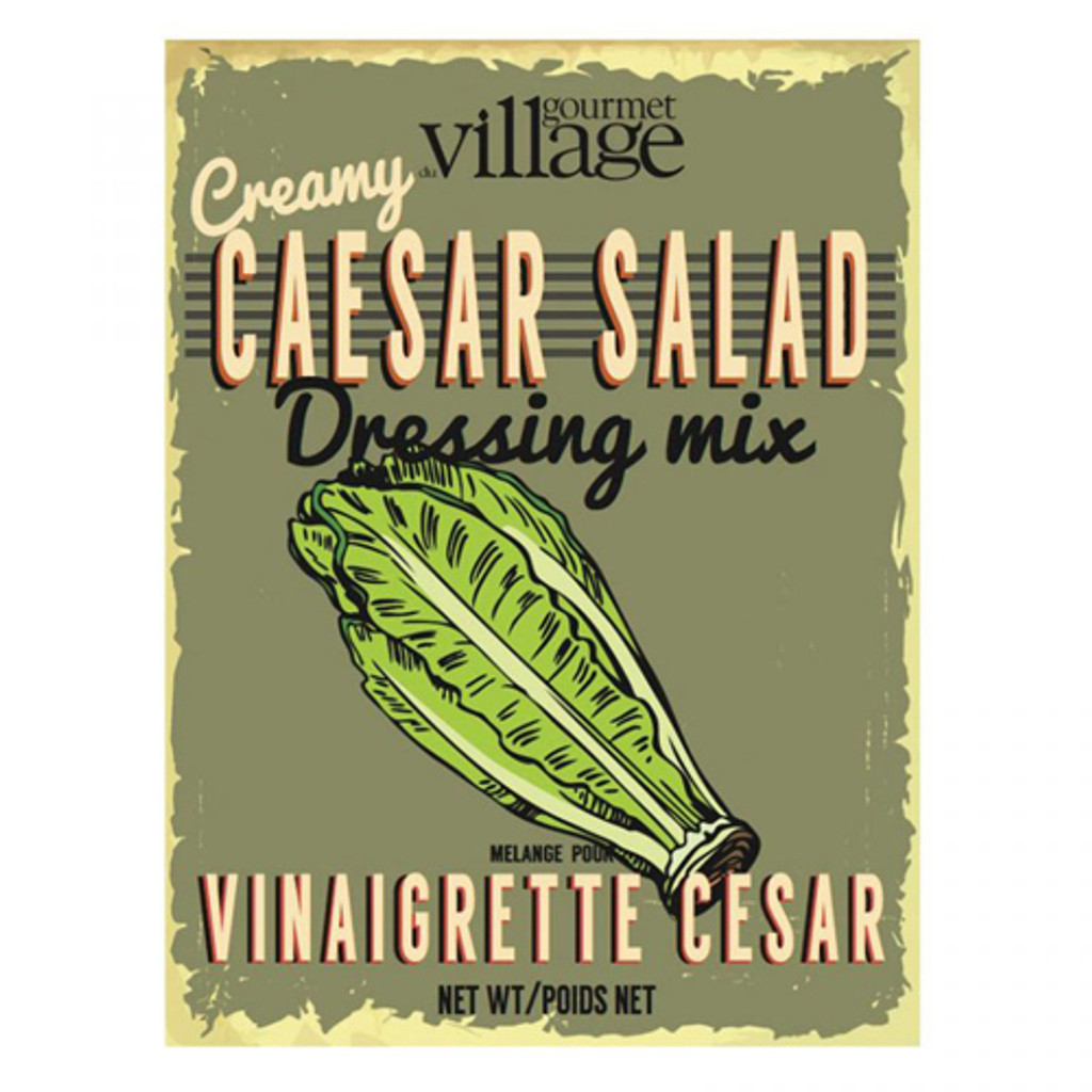 Gourmet Du Village Retro Creamy Caesar Salad Dressing Mix
