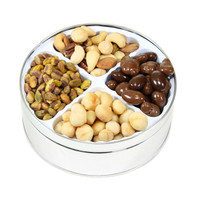 Tin Filled with Assortments Nuts & Chocolates