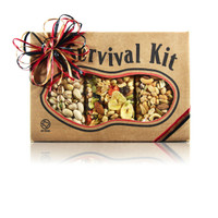 Planning a trip? Don't forget the snacks! austiNuts Survival Kit - Nutty Trail Mix is here for you!   Contains: Salted Lone Star Nut Mix, Salted Pistachios & Trail Mix