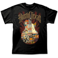 austiNuts Austin Live Music Guitar - Black Shirt