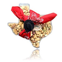 The ultimate Texas gift! Say HOWDY with our Texas Cowboy Container  Contains: your choice Dry Roasted Nuts or Mix