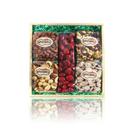 Medium Wood Crate Gift - Gourmet Nuts & Chocolate