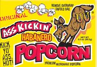 Ass Kickin® Popcorn  -  Habanero - Single Pack